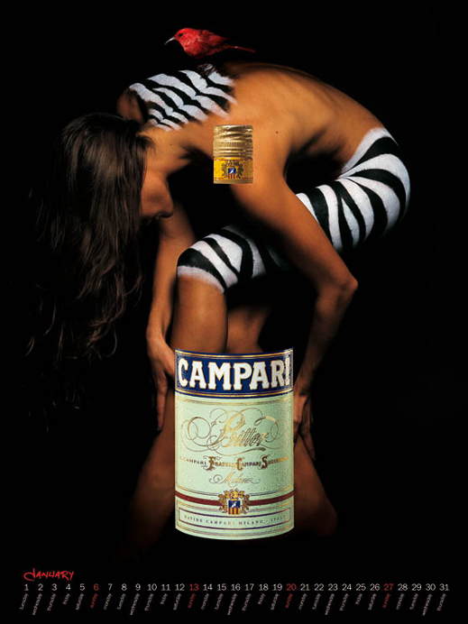www.lacavalieremasquee.com / Adrian Hamilton for Campari 2002 w/ Magda Gomes & Marika Svensson