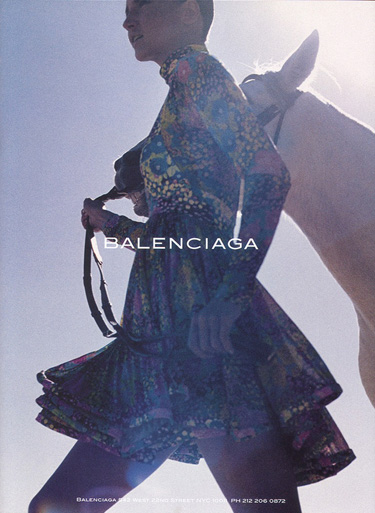 La Cavalière masquée | David Sims for Balenciaga Spring/Summer 2004