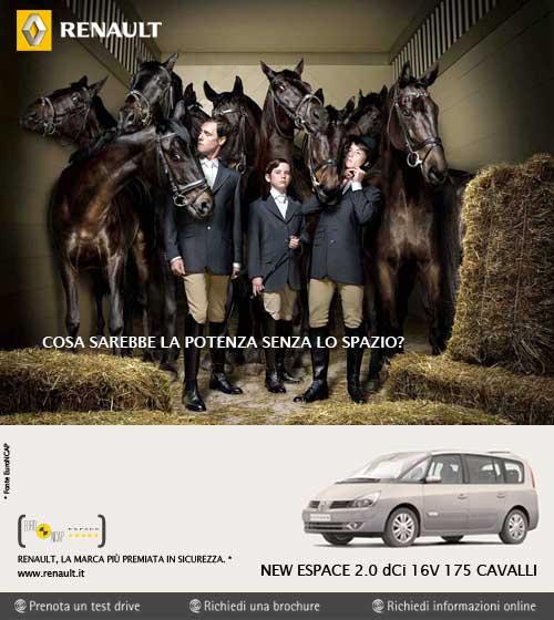 www.lacavalieremasquee.com | Publicis Italia & LSD for Renault: Cosa sarebbe la potenza senza lo spazio?