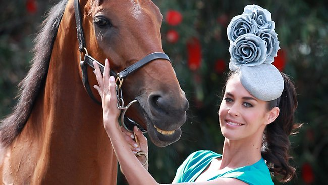 www.lacavalieremasquee.com | Megan Gale and Tullamore at the Caulfield Cup