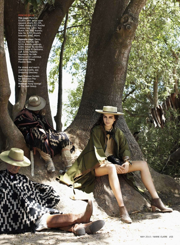 www.lacavalieremasquee.com | Astrid Munoz for Marie Claire US May 2010: Gaucho Gorgeous