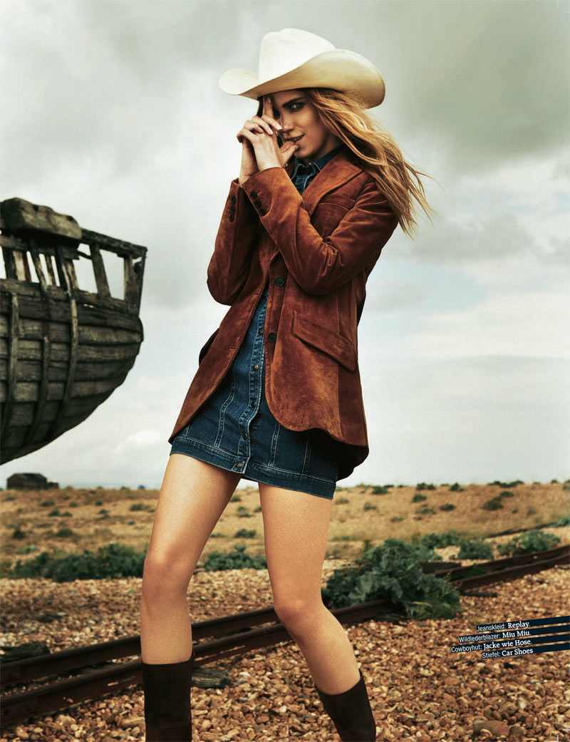 www.lacavalieremasquee.com | Tina Luther for Grazia Germany: Bang! Boom! Chic!