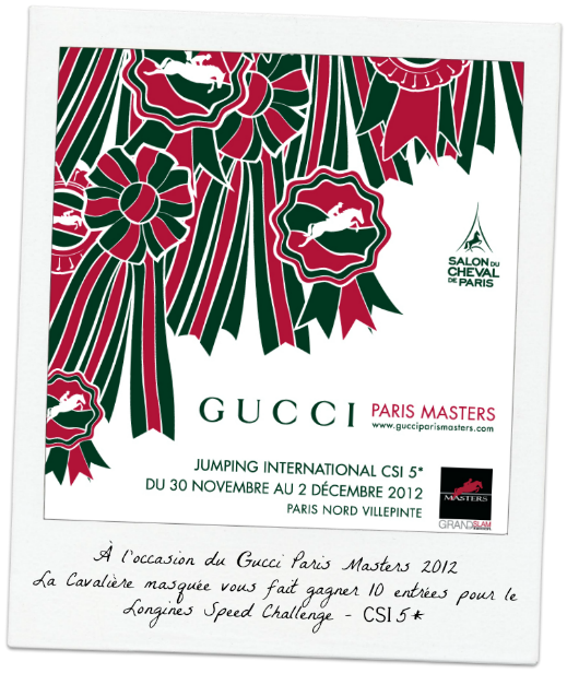 GUCCI Paris Masters: Gagnez votre place pour le Longines Speed Challenge avec La Cavalière masquée