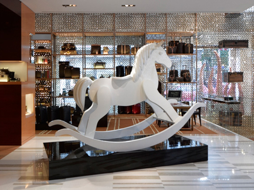 Elmgreen & Dragset at the Louis Vuitton New Bond Street Maison - Rocking Horse