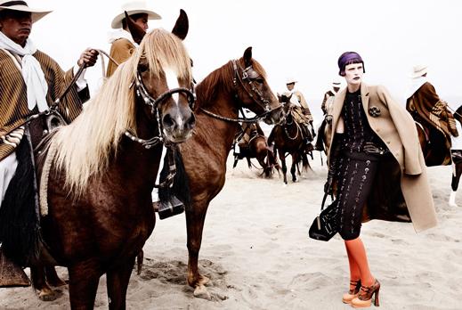 Mario Testino for Vogue US September 2012 w/ Stella Tennant