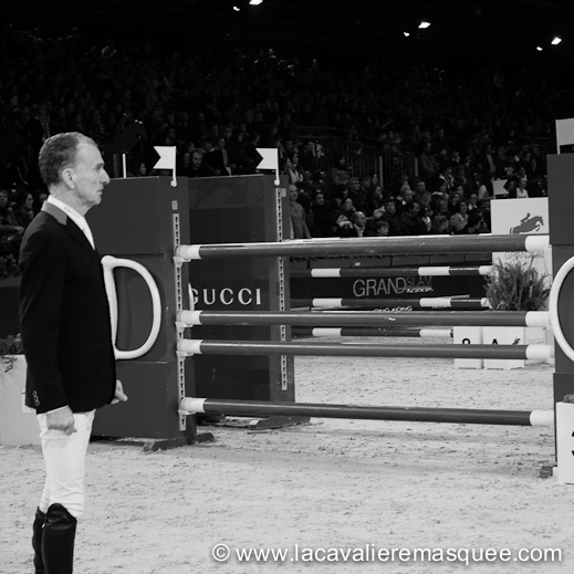 La Cavalière masquée, partner of the Gucci Paris Masters w/ Michel Robert