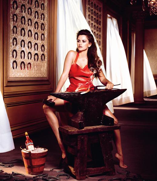 www.lacavalieremasquee.com / Kristian Schuller for the 2013 Campari Calendar w/ Penelope Cruz