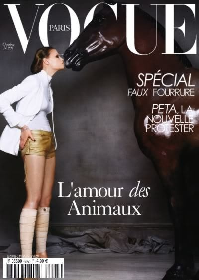www.lacavalieremasquee.com / Vogue Paris : L'amour des animaux
