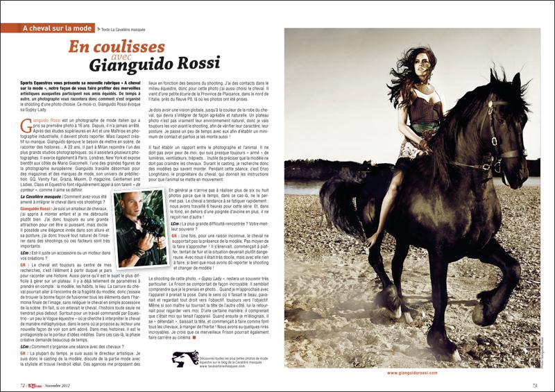 www.lacavalieremasquee.com | Aurélie Savy La Cavalière masquée for Sports Equestres Magazine