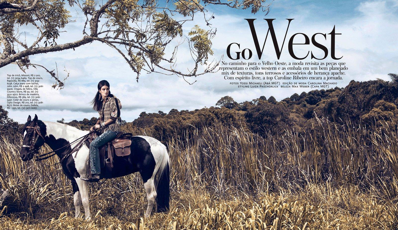 www.lacavalieremasquee.com | Yossi Michaeli for InStyle Brazil April 2013 w/ Caroline Ribeiro: Go West