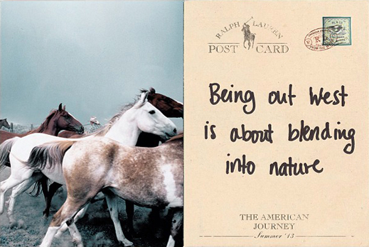 www.lacavalieremasquee.com   Ralph Lauren - Being out West is about  blending into 42e3ea8e12a6