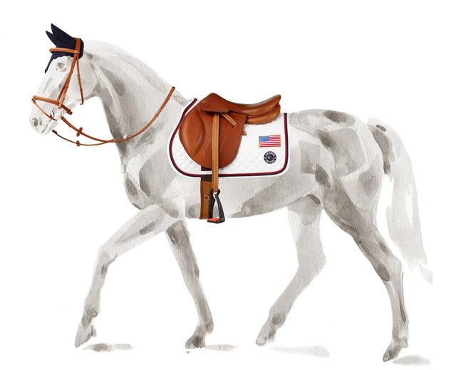 www.lacavalieremasquee.com | Jumping horse Hermès x USEF