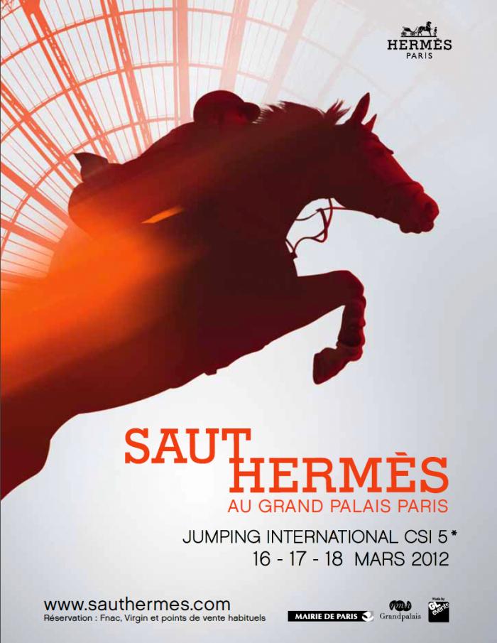 www.lacavalieremasquee.com | Affiche du Saut Hermès 2012 au Grand Palais