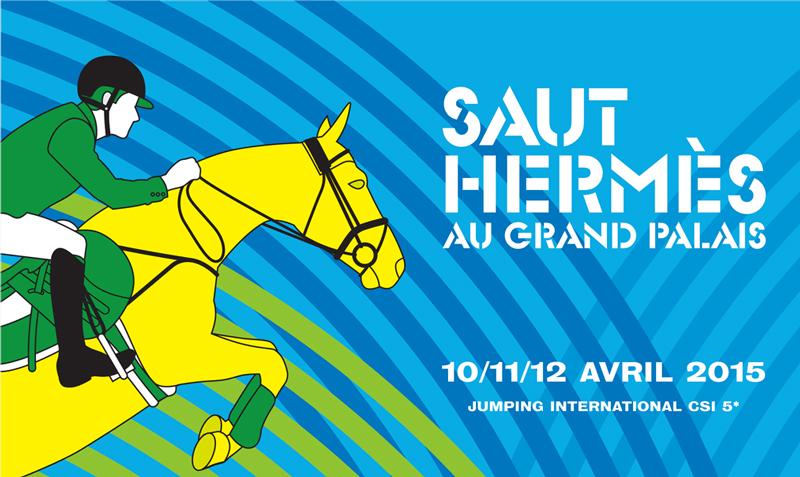 www.lacavalieremasquee.com | Affiche du Saut Hermès 2015 au Grand Palais