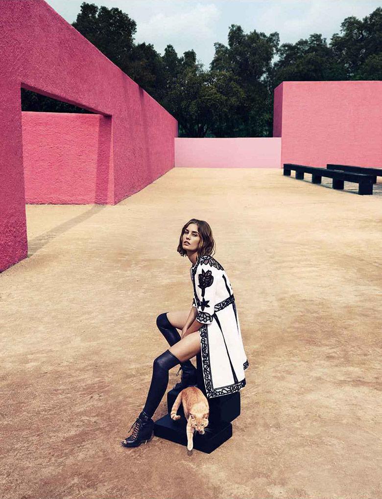 www.lacavalieremasquee.com   Camilla Akrans for Harper's Bazaar US March 2015 w/ Nadja Bender