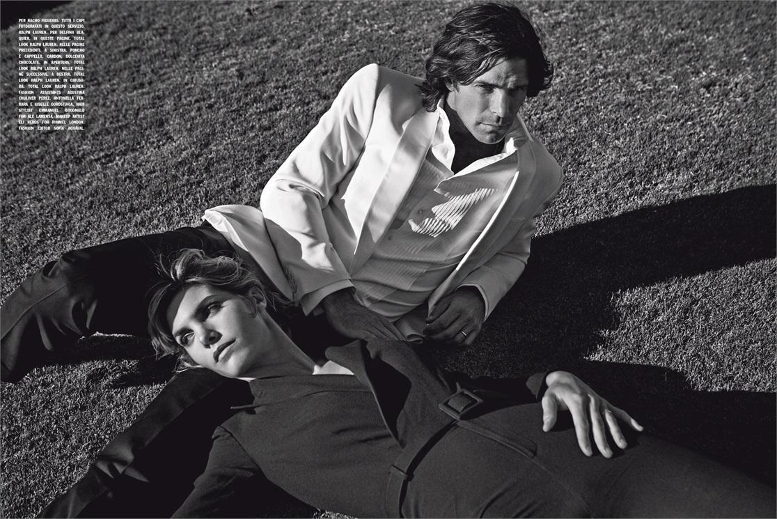 www.lacavalieremasquee.com | Nacho Figueras & Delfina Blaquier for L'Uomo Vogue March 2015 by Francesco Carrozzini