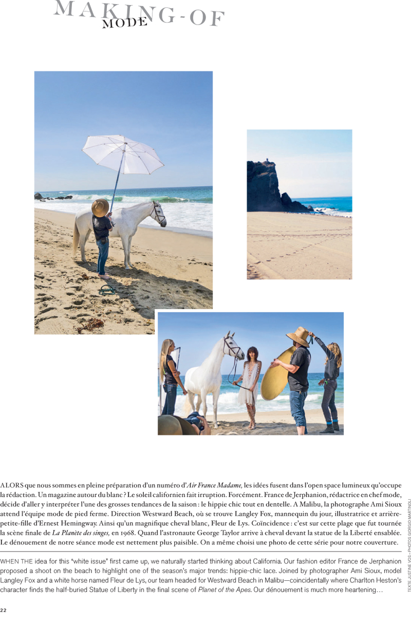 www.lacavalieremasquee.com | Air France Madame #168 Summer 2015