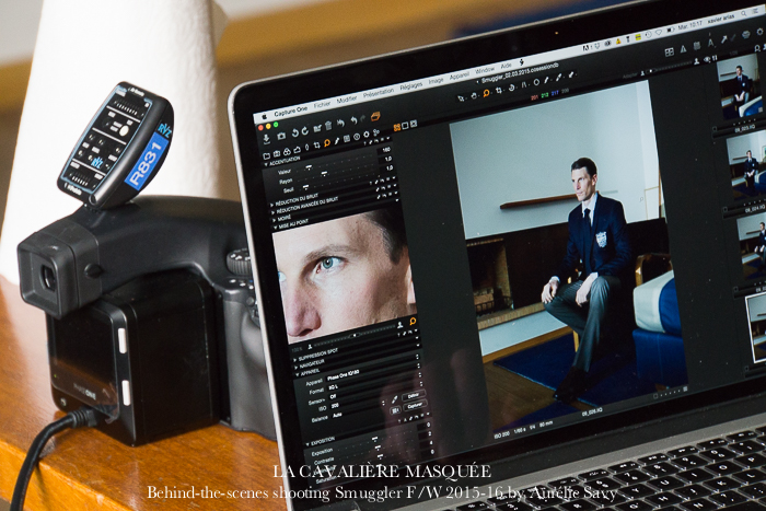 www.lacavalieremasquee.com | Behind-the-scenes shooting Smuggler F/W 2015-16 w/ Kevin Staut by La Cavalière masquée