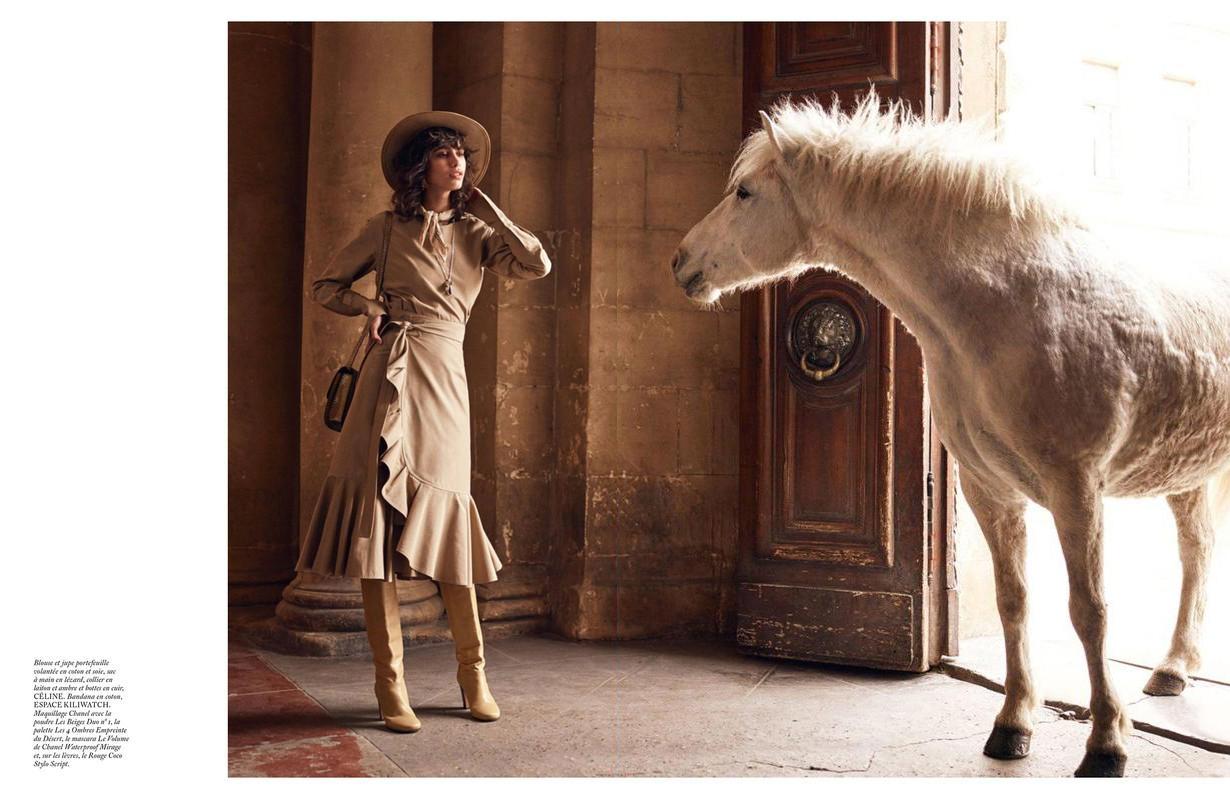 www.lacavalieremasquee.com | Mikael Jansson for Vogue Paris June/July 2016 w/ Mica Arganaraz