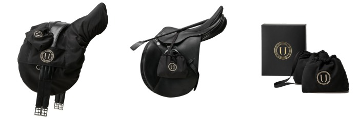 www.lacavalieremasquee.com | set-u-black-microfiber-saddle-cover-stirrup-covers