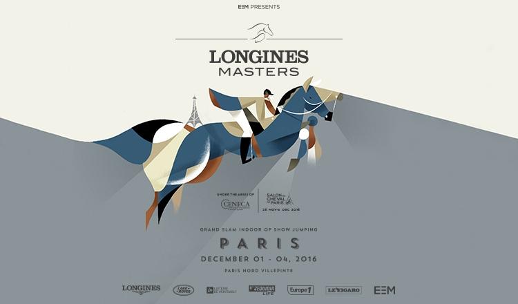 www.lacavalieremasquee.com | Affiche Longines Masters de Paris 2016
