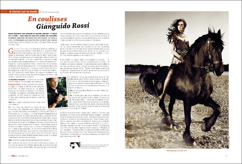 www.lacavalieremasquee.com | Sports Équestres Magazine : En coulisses avec Gianguido Rossi