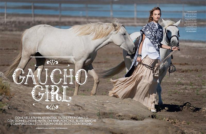 www.lacavalieremasquee.com | Gilles Bensimon for Elle Italy January 2020 w/ Maartje Verhoef : Spirito libero