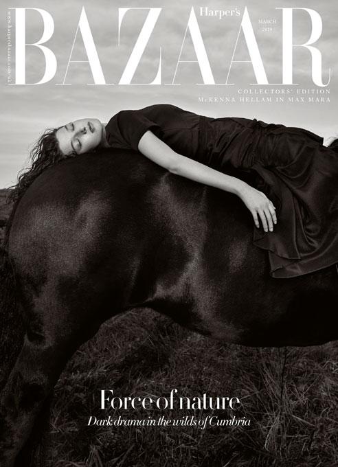 www.lacavalieremasquee.com | Agata Pospieszynska for Harper's Bazaar UK March 2020 w/ Mckenna Hellam