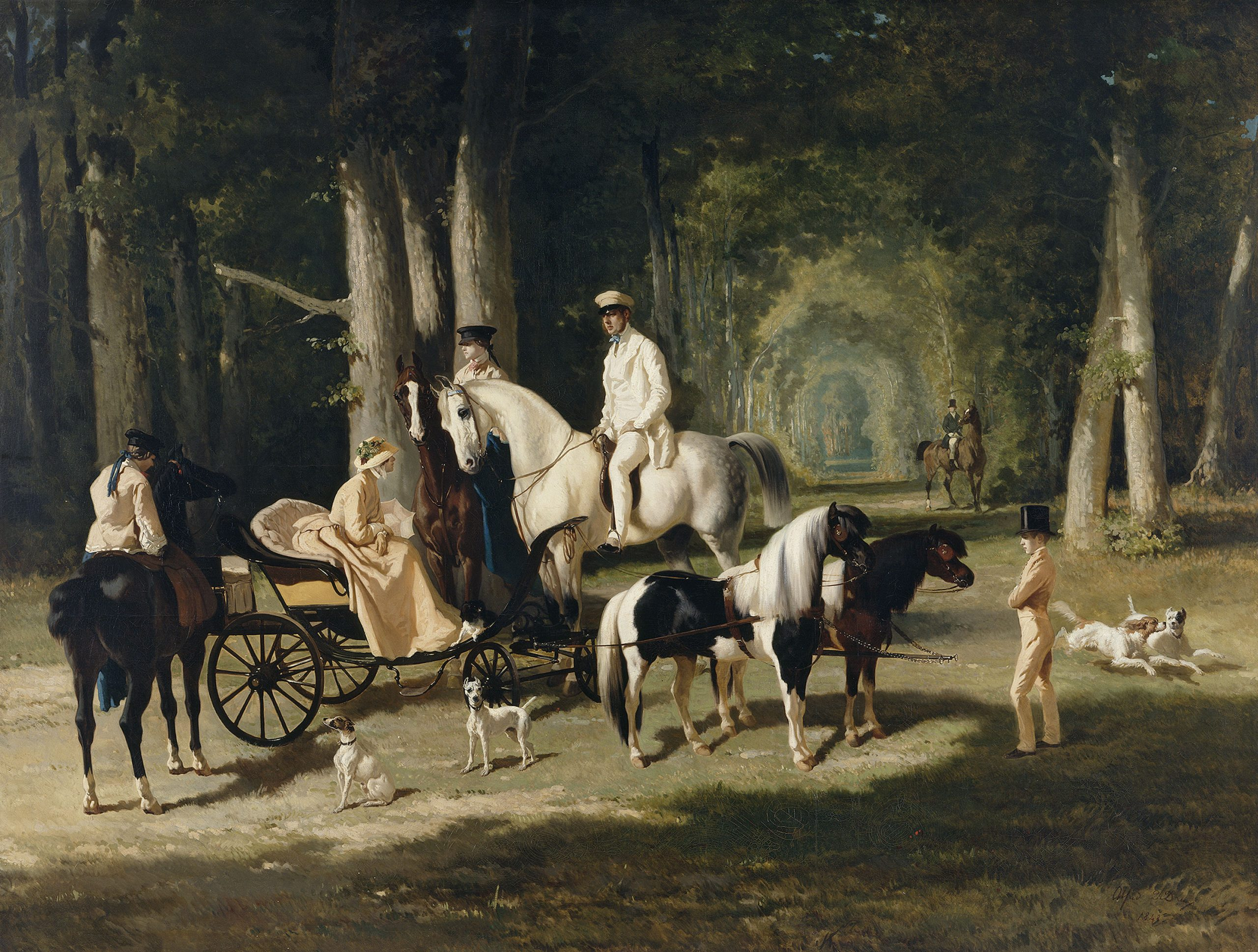 www.lacavalieremasquee.com | Horse in painting